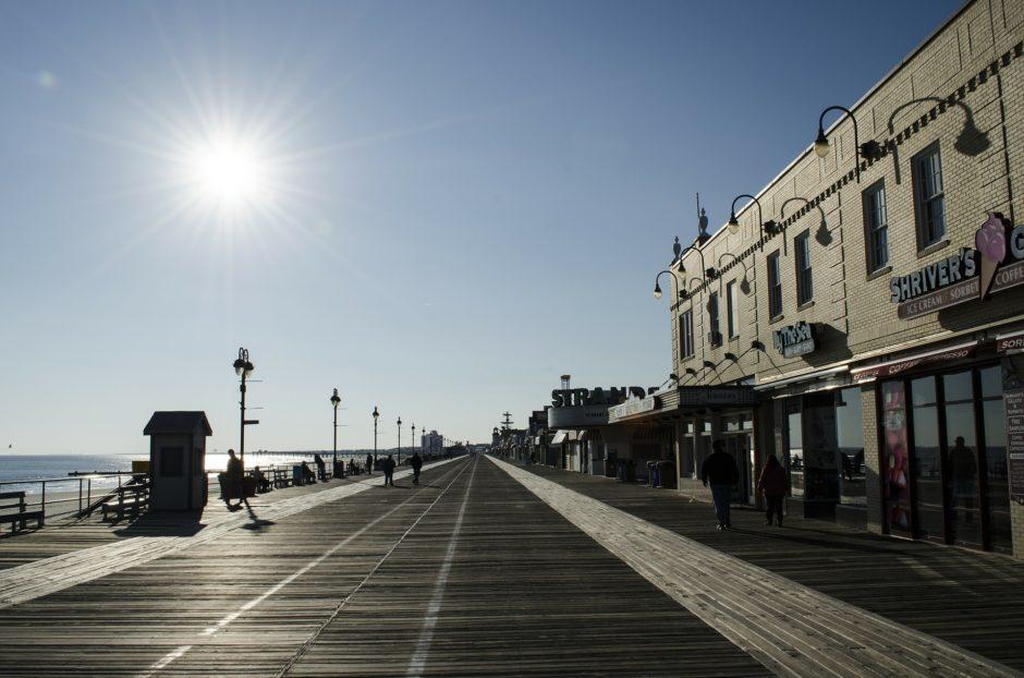 Ocean City boardwalk by the water
