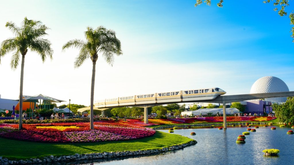 Florida, Disney World monorail and epcot ball