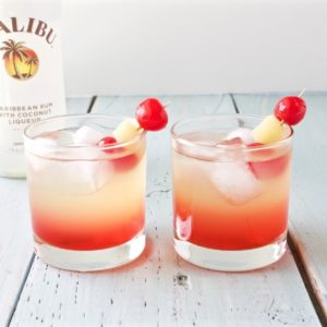 Malibu Sunset drinks mixology