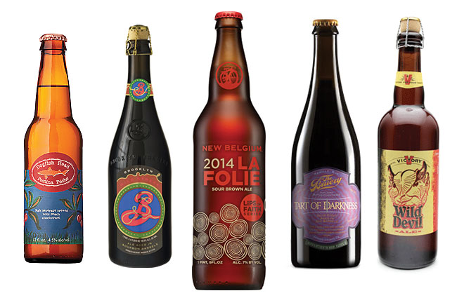 Sour Beer bottles