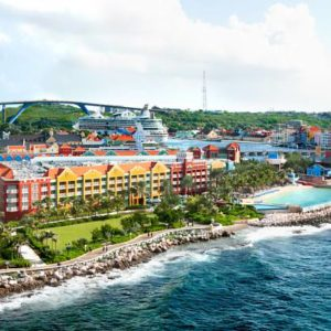 The Renaissance Curacao Resort, aerial and ocean view