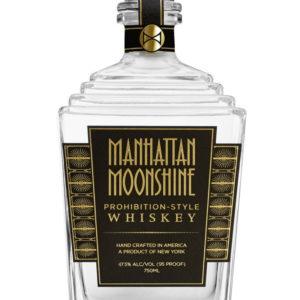 Manhattan Moonshine whiskey bottle