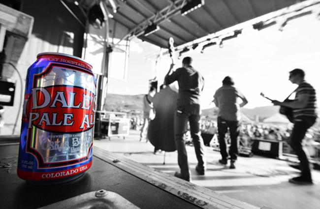 Oskar Blues dale's pale ale from colorado