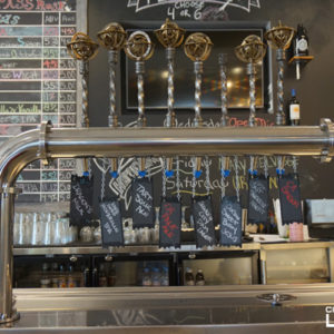 Compass Rose brewery, beer taps