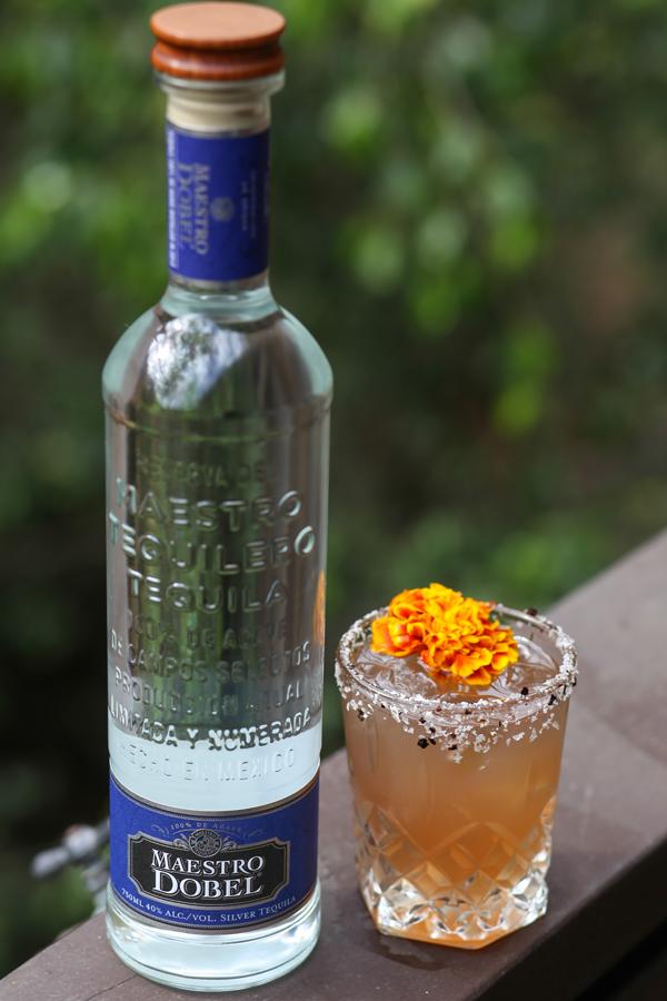 Maestro Dobel tequila bottle and drink