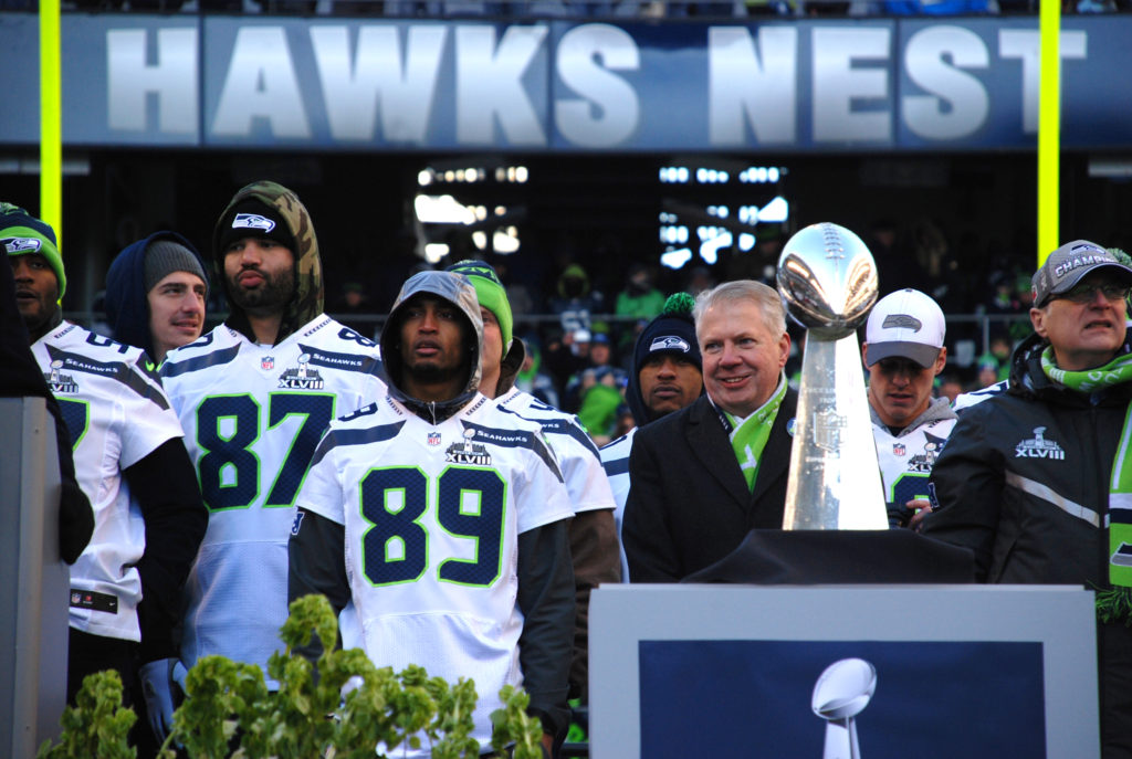 seattle mayor with seahawks