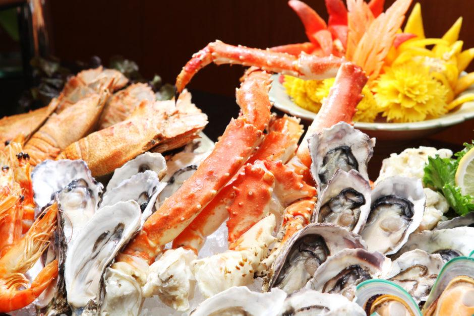 Seafood close up