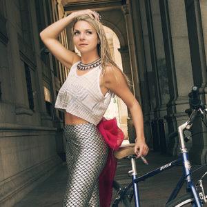 Arielle La Sirena posing in NYC