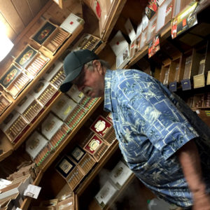 Captain Hunt Tobacconist owner in humidor