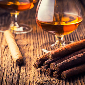 Cuban Cigars and whiskey