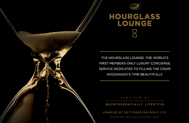 Hourglass Lounge by Davidoff ad