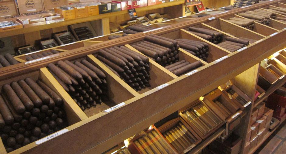 Fine Cigars in a cigar shop