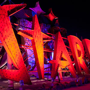 neon museum las vegas closeup of stardust sign