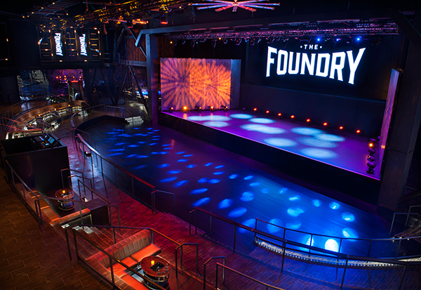 sls, the foundry club in las vegas, empty dance floor