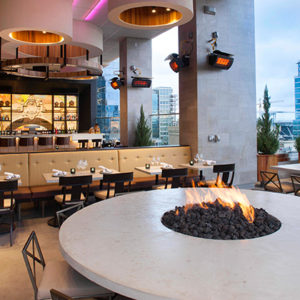 The Nolen outdoor bar and firepit