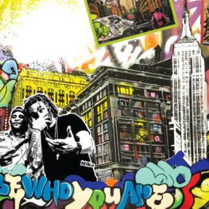 ur newy york logo and graffiti