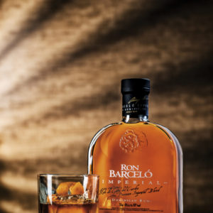 Ron Barcelo Imperial Rum bottle and glass