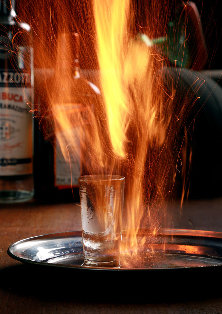 Back Draft Cocktail Shooter on fire