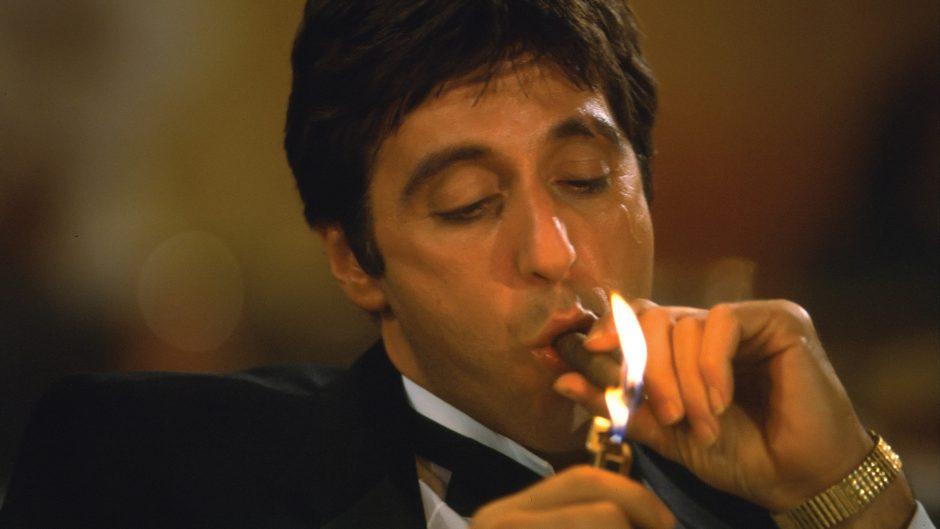 10 Coolest Cigar Scenes Al Pacino smoking scarface