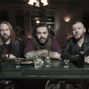 Seether band members in bar with drinks