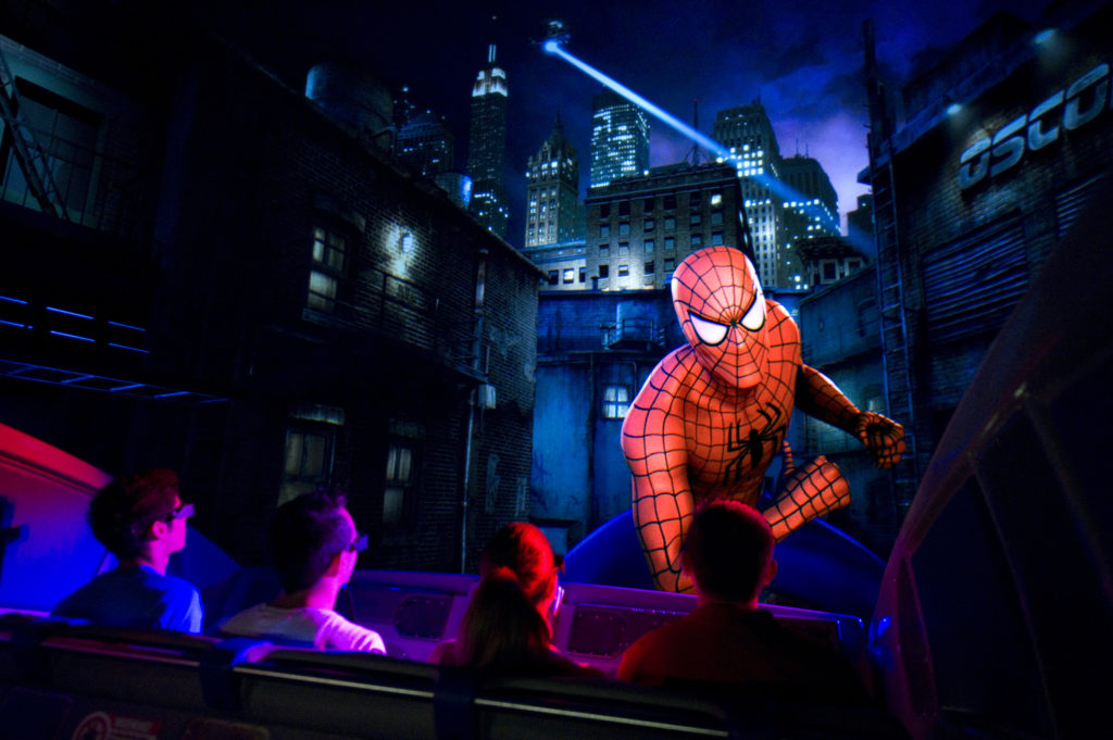 amusement parks: Universal Studios Islands of Adventure interior of Spider-man ride