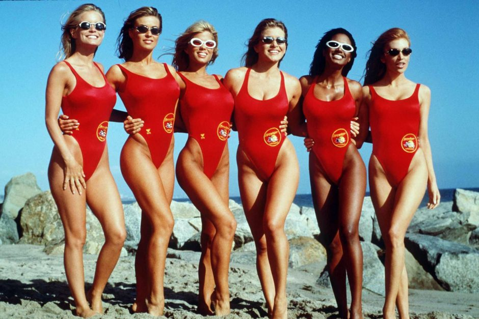 baywatch babes posing on the beach