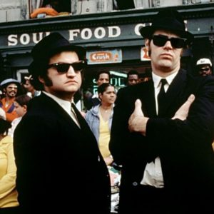 Blues Brothers posing