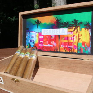 isabela cigars open box with logo