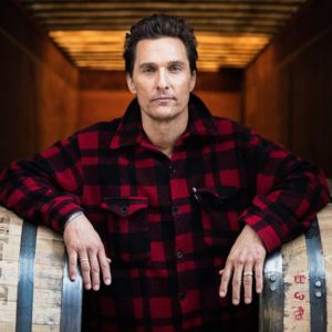 Matthew McConaughey with Wild Turkey barrels