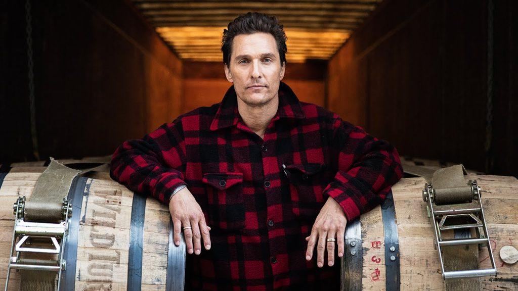 Matthew McConaughey with Wild Turkey barrels