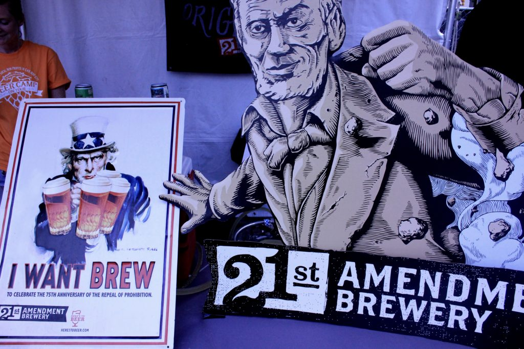 21st amendment brewery tent at beer camp in raleigh