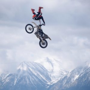 X Games Adam Jones doing a motocross trick