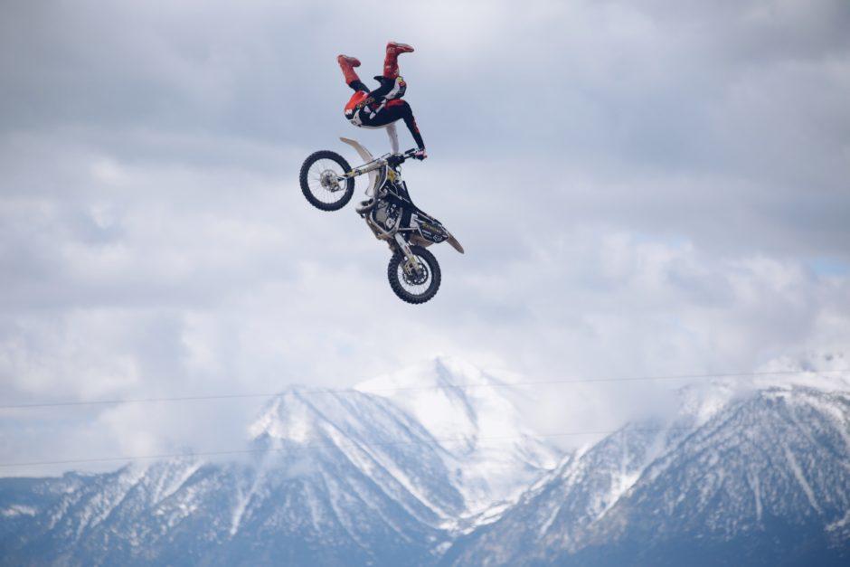 X Games Adam Jones doing a motocross trick