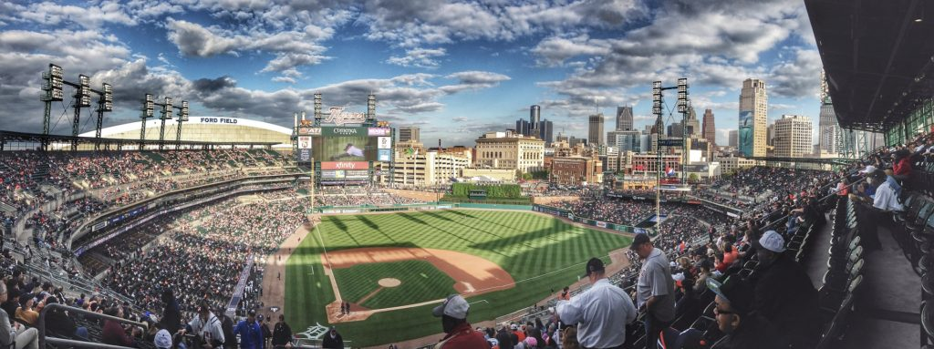 Vacations: Baseball diamond, Detroit Tigers stadium