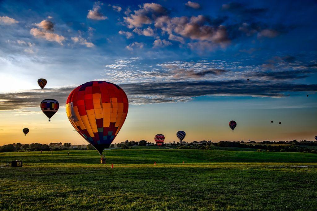 Hot air balloon festival in Iowa