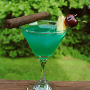 Mixology Envy tequila drink with cigar