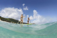 Paddleboarding in St.Barts