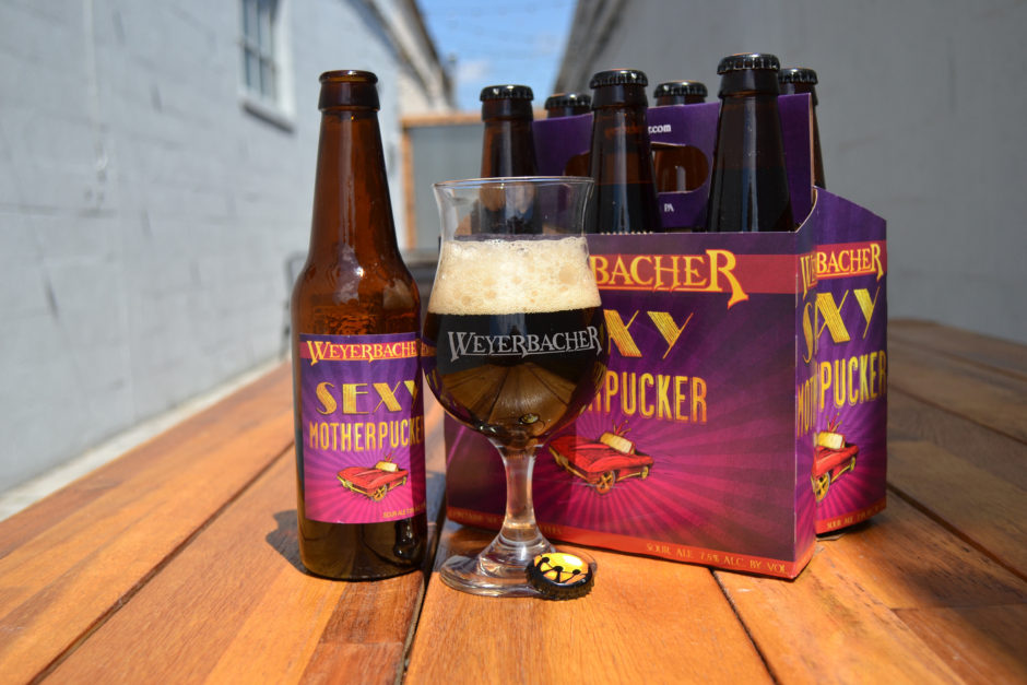 weyerbacher sexy motherpucker 6pack with bottle and glass