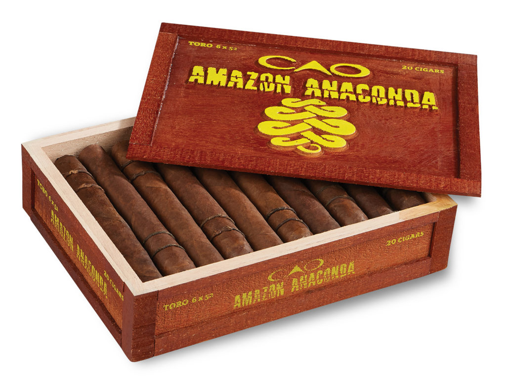 amazon anaconda box of cigars CAO