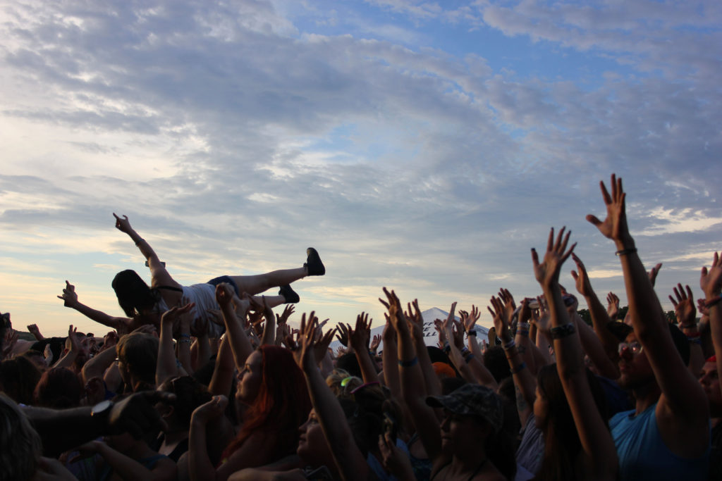crowd surfer at warped tour in charlotte
