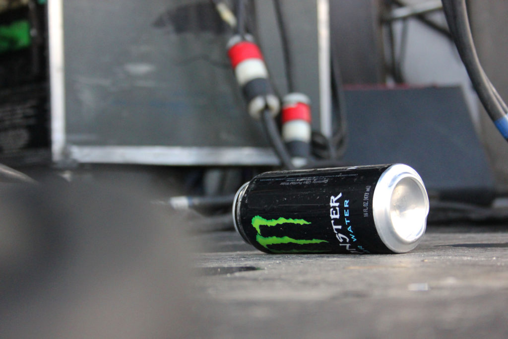 tipped over Monster at Warped Tour in Charlotte