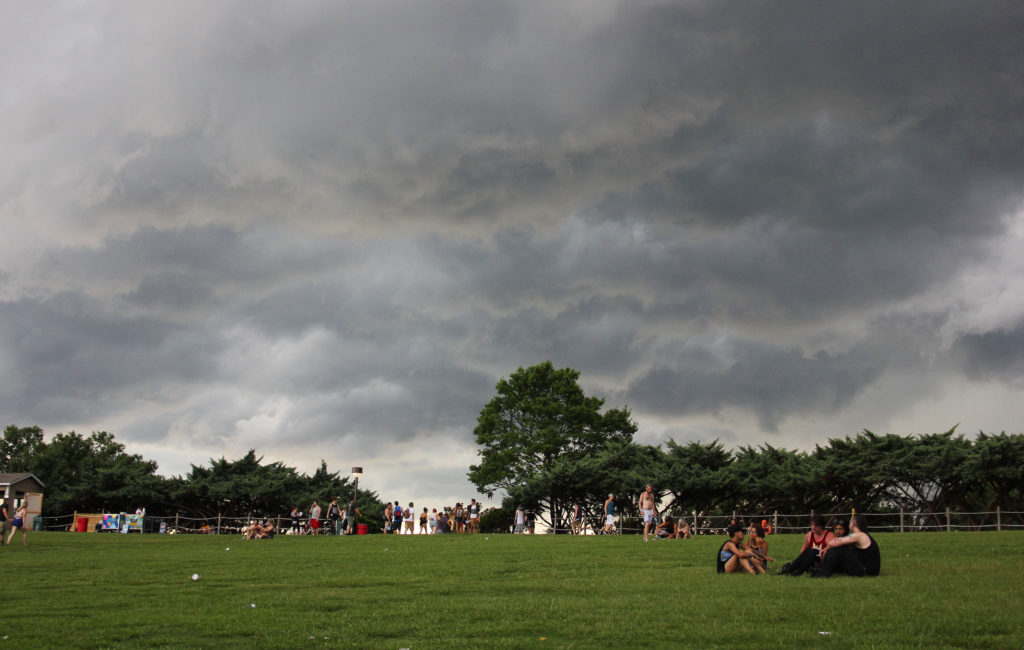 the storm approaches at warped tour in Charlotte