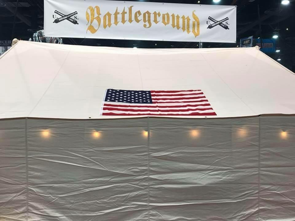battleground cigars tent