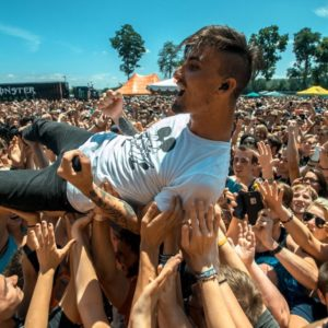 We Came as romans Kyle Pavone crowd surfing