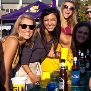 3 November 2012: Alabama Crimson Tide at LSU Tigers; LSU fans tailgate before a game in Baton Rouge, LA (Icon Sportswire via AP Images)