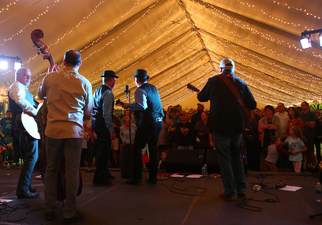 Dance Tent with The Gravy Boys WOB 2017 by photographer Dave Brainard