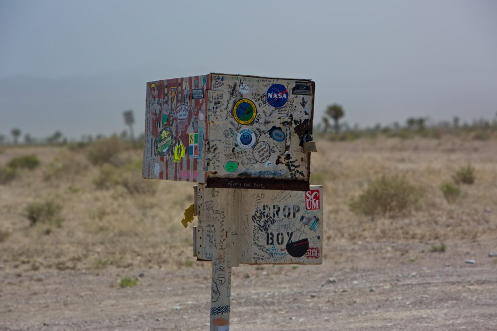 The Extraterrestrial Highway black mailbox