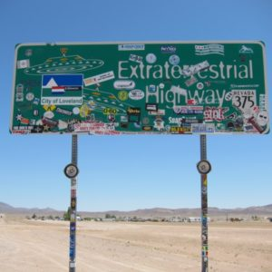 The Extraterrestrial Highway sign