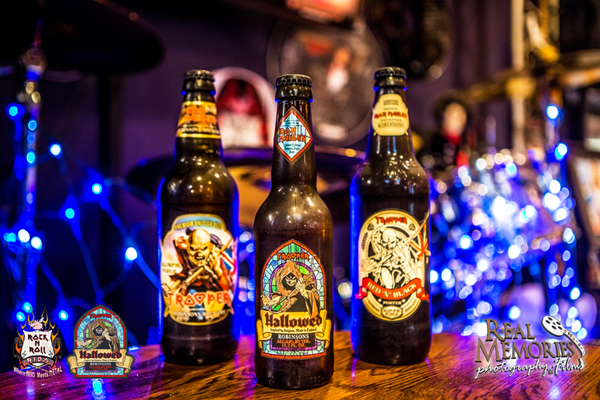 TROOPER-HALLOWED iron maiden beer