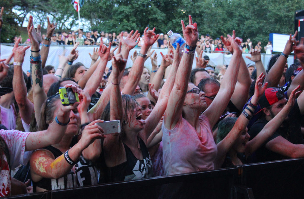 gwar live crowd blood